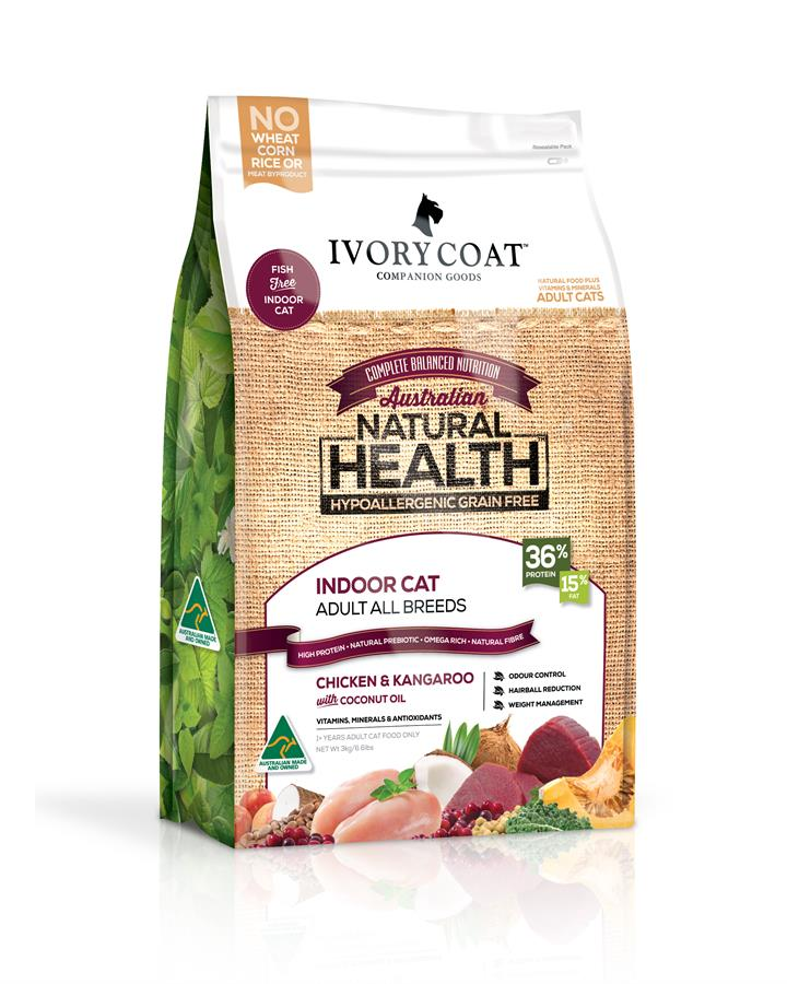 Ivory Coat Cat Food Indoor Chicken & Kangaroo 6kg