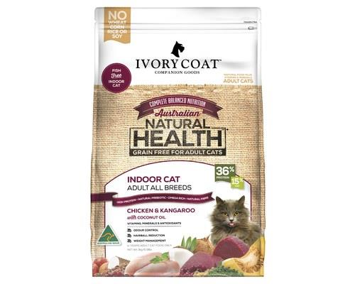 Ivory Coat Grain Free Dry Cat Food Chicken And Kangaroo Adult Indoor 3kg