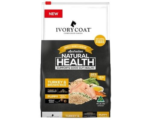 Ivory Coat Puppy Large Breed Turkey & Brown Rice Wholegrain Dog Food 18kg