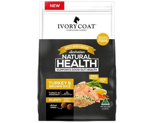 Ivory Coat Puppy Large Breed Turkey & Brown Rice Wholegrain Dog Food 2.5kg