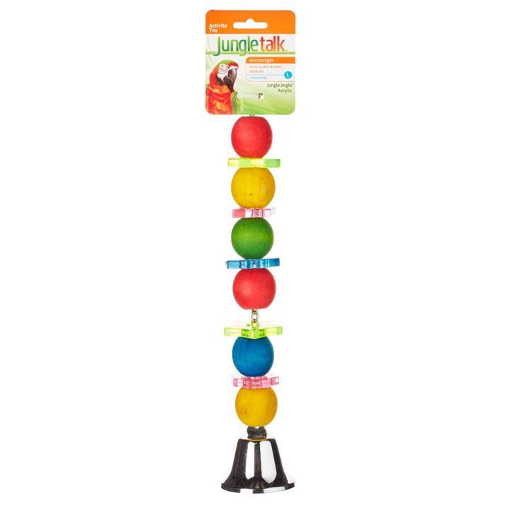 Jungle Talk Jungle Jingle Acrylic Bird Toy