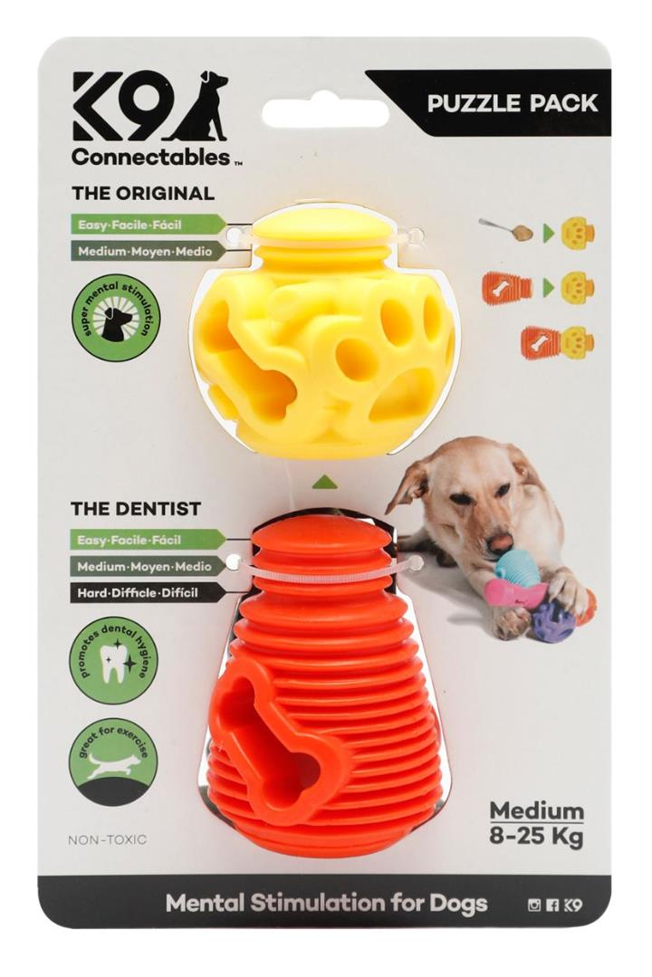 K9 Connectables Puzzle Pack Dog Toy Medium
