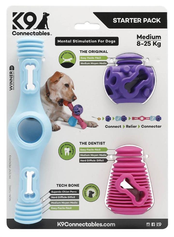 K9 Connectables Starter Pack Blue Dog Toy Medium
