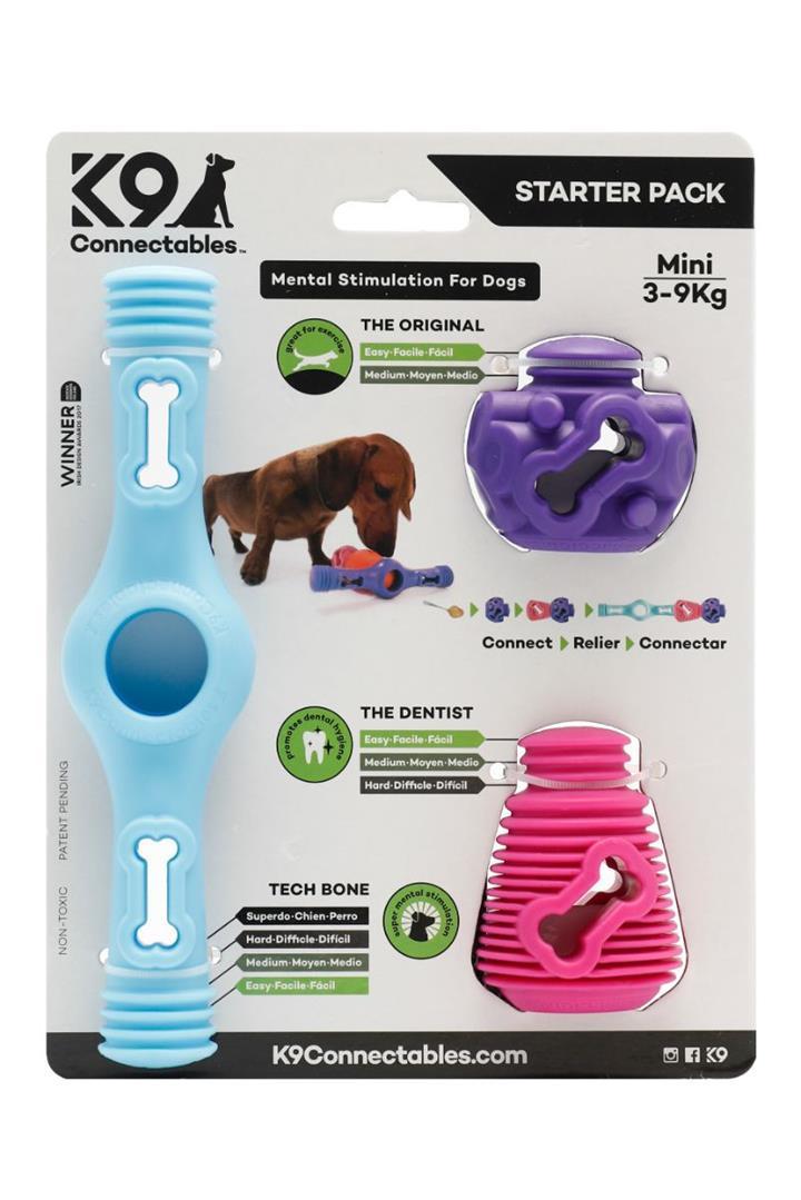 K9 Connectables Starter Pack Blue Dog Toy Mini