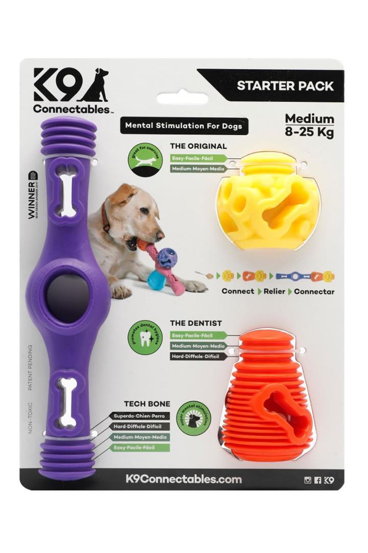 K9 Connectables Starter Pack Purple Dog Toy Medium