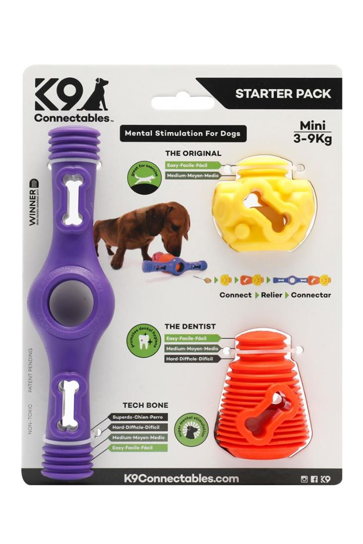 K9 Connectables Starter Pack Purple Dog Toy Mini