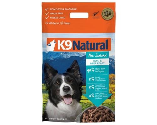 K9 Natural Beef And Hoki 1.8kg