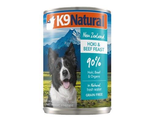 K9 Natural Beef And Hoki Feast 370g