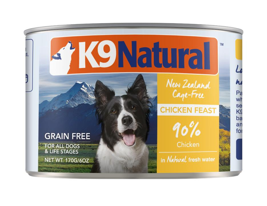 K9 Natural Canned Chicken Feast Dog Food 24x170g