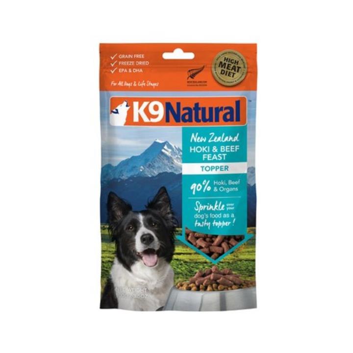 K9 Natural Freeze Dried Beef & Hoki Dog Food Topper 100g