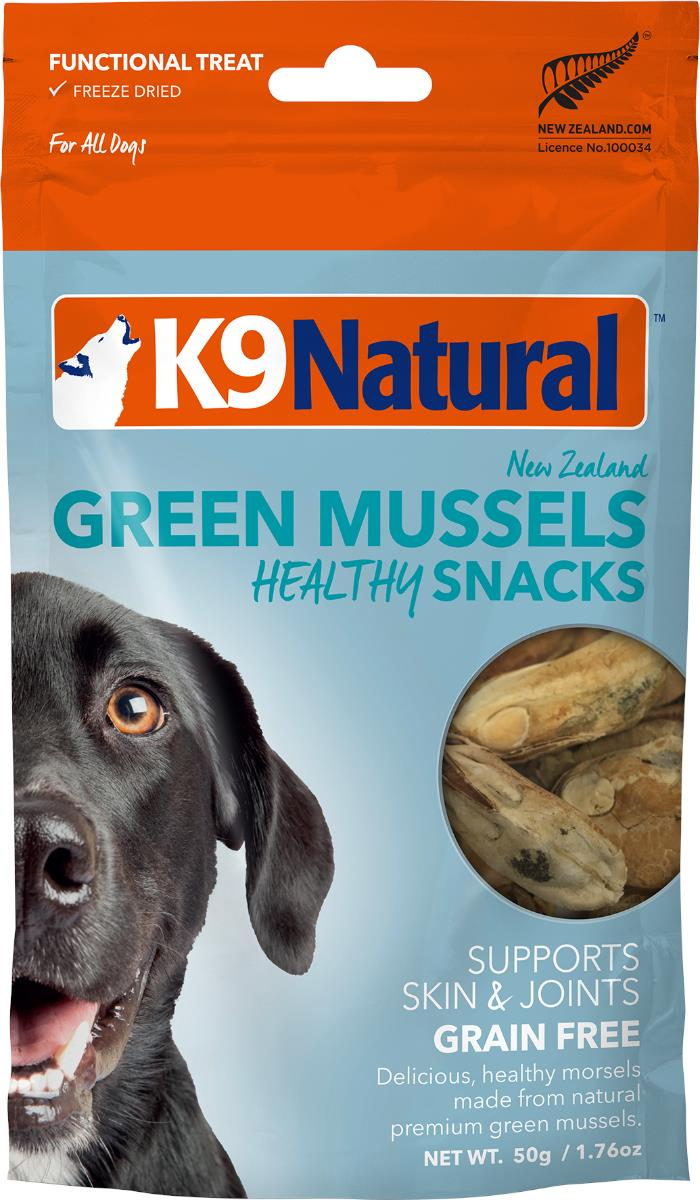K9 Natural Green Lipped Mussel Healthy Bites Dog Treat 50g