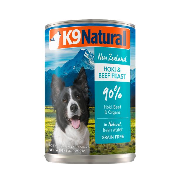 K9 Natural Hoki And Beef Grain Free Canned Dog Food 12 X 370g