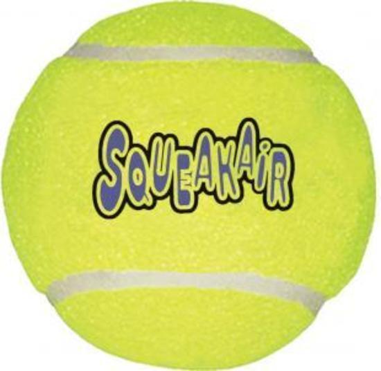KONG AirDog Squeaker Non Abrasive Tennis Ball Dog Toy - Large
