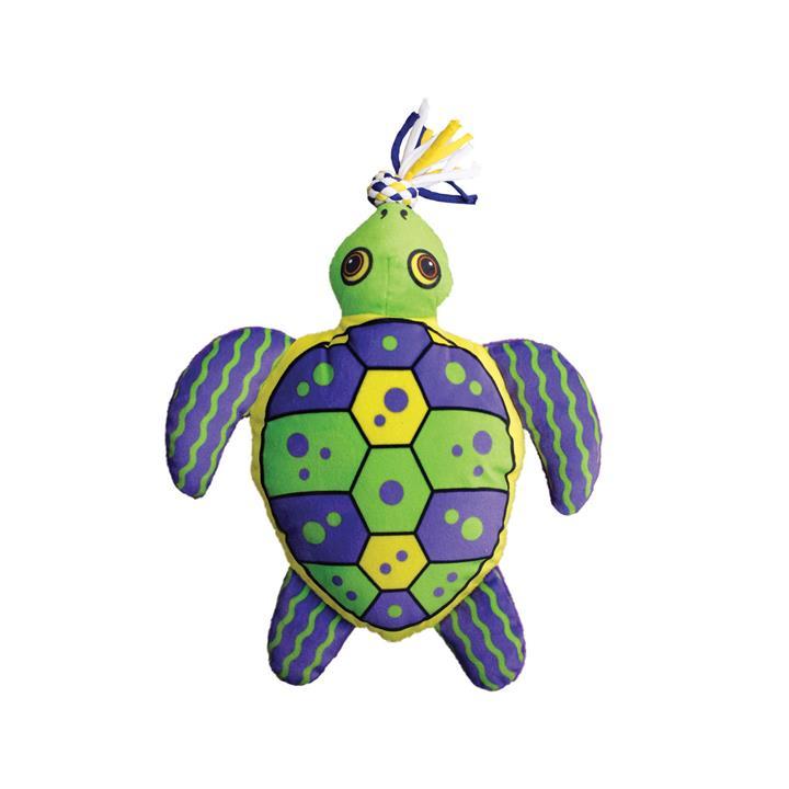 KONG Aloha Turtle Canvas Squeaker Tug Dog Toy - Large/X-Large