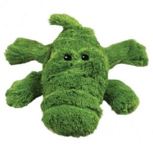 KONG Cozie - Low Stuffing Snuggle Dog Toy - Ali the Alligator - Medium