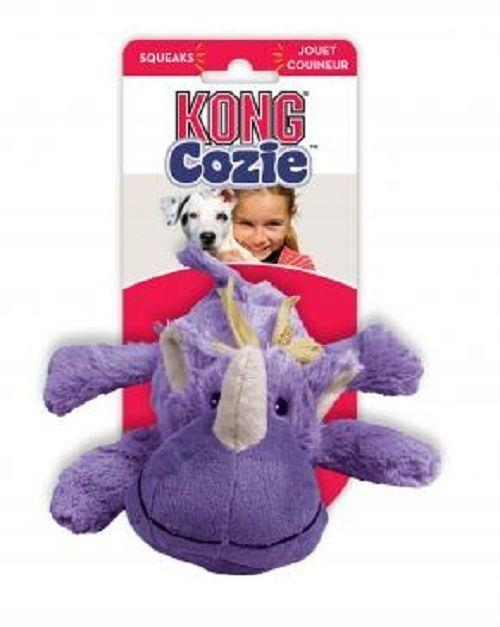 KONG Cozie - Low Stuffing Snuggle Dog Toy - Rosie the Rhino - Medium