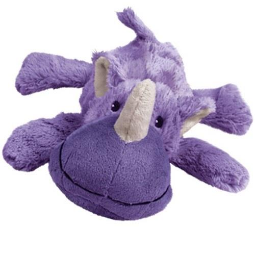 KONG Cozie - Low Stuffing Snuggle Dog Toy - Rosie the Rhino - Small
