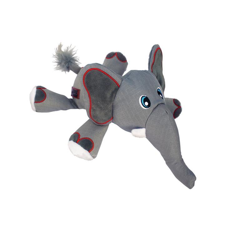 KONG Cozie Ultra Ella Elephant Canvas Squeaker Dog Toy - Large