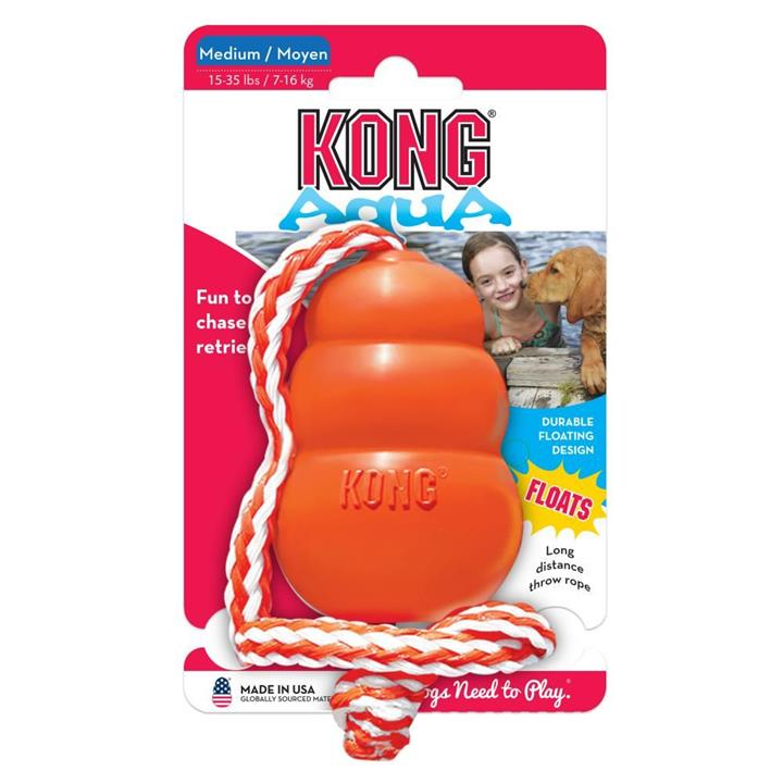 KONG Dog Toy Aqua with Rope