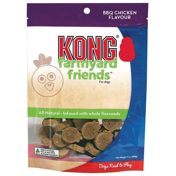 KONG Dog Treat Farmyard Friends BBQ Chicken 200g