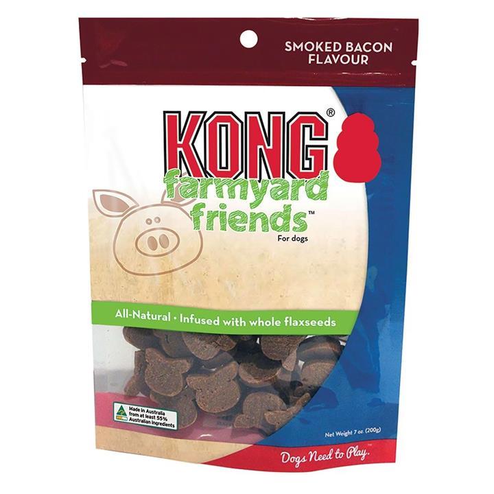 KONG Dog Treat Farmyard Friends Smoked Bacon 200g