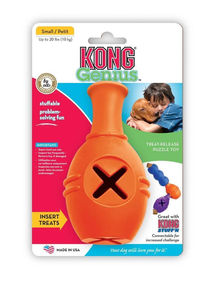 KONG Genius Leo Interactive Treat Dispensing Dog Toy - Small