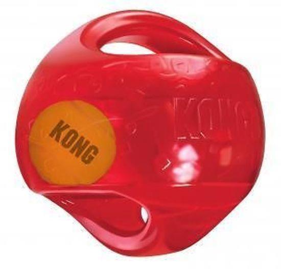KONG Jumbler Rubber Ball with Hidden Tennis Ball Dog Toy - Large/X-Large