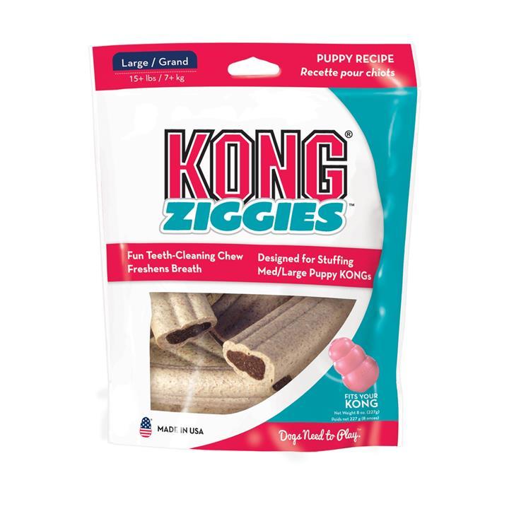 KONG Stuff'N Ziggies Puppy Recipe Breath Freshening Dog Treats - Made in USA - Large