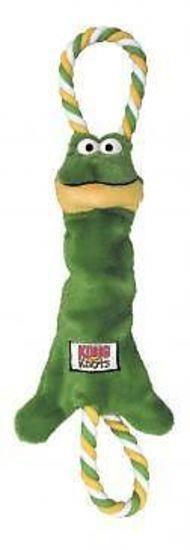 KONG Tugger Knots Tug & Fetch Dog Toy - Medium/Large Frog