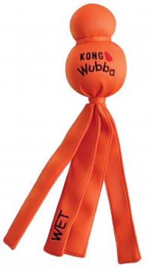 KONG Wet Water Wubba Floating Tug Dog Toy - Large - Assorted Colours