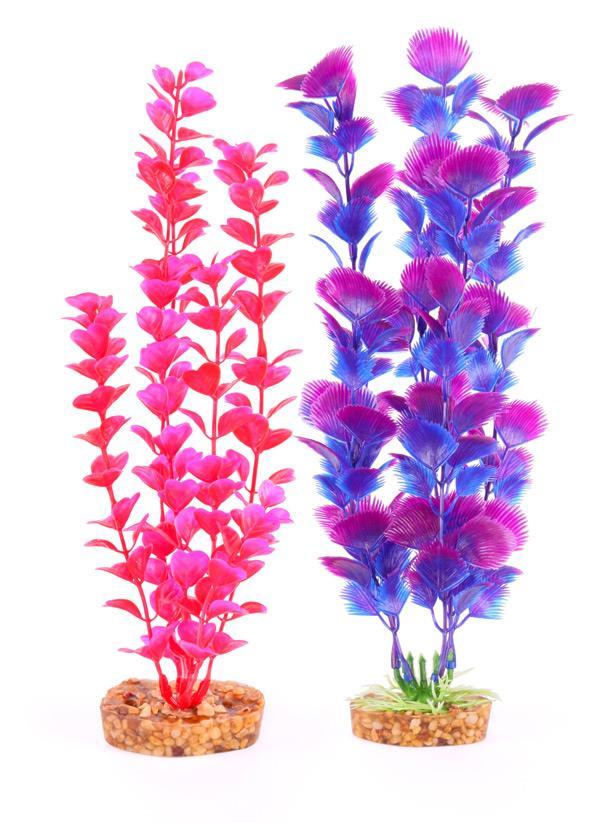 Kazoo Aquarium Plant Medium Leaf Pink/Purple Medium