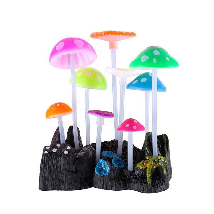 Kazoo Aquarium Silicone Plant Mushrooms Small