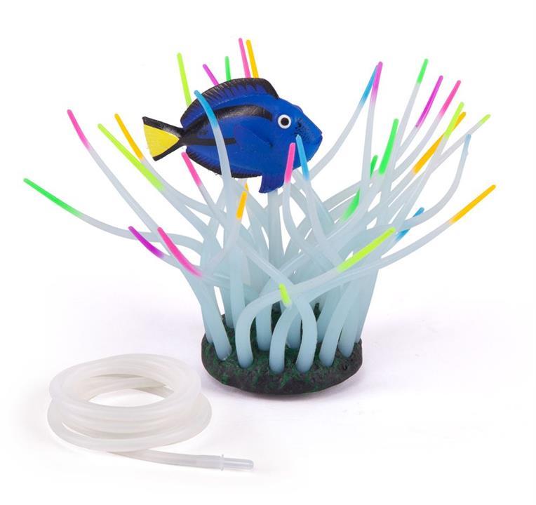 Kazoo Aquarium Silicone Plant Sea Anemone With Blue Tang & Air Medium