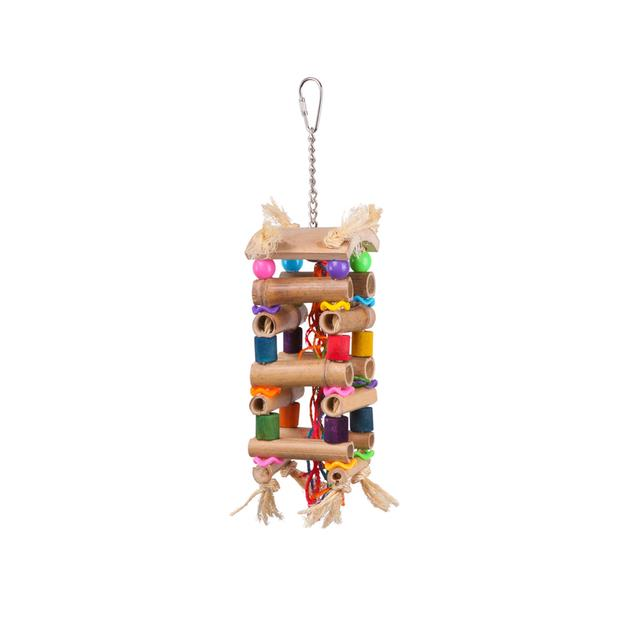 Kazoo Bird Toy Tower With Sisal And Beads Large