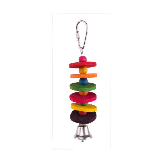 Kazoo Bird Toy With Round Chips And Bell Small