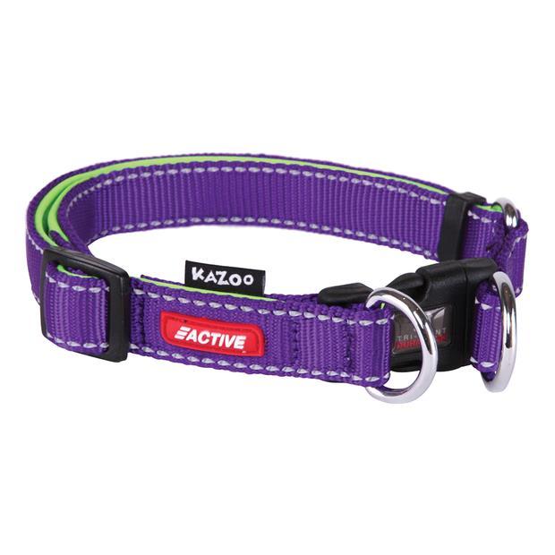 Kazoo Collar Active Adjustable Purple X Large