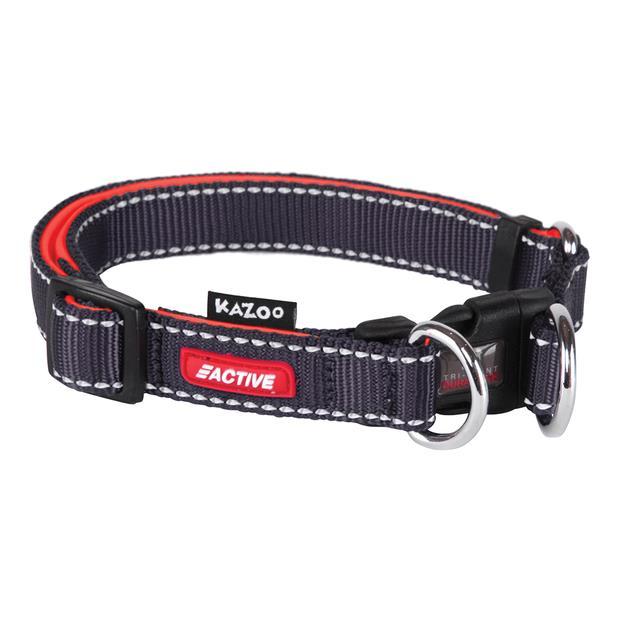 Kazoo Collar Active Adjustable Slate Large