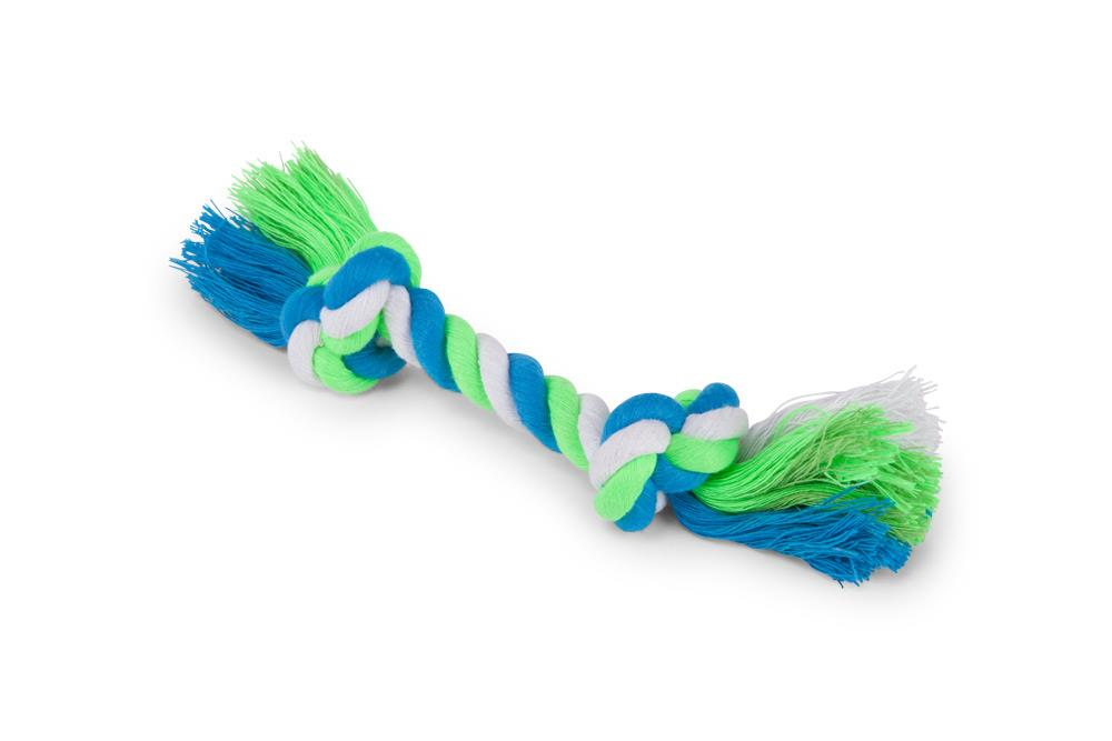 Kazoo Twisted Rope Knot Bone Dog Toy