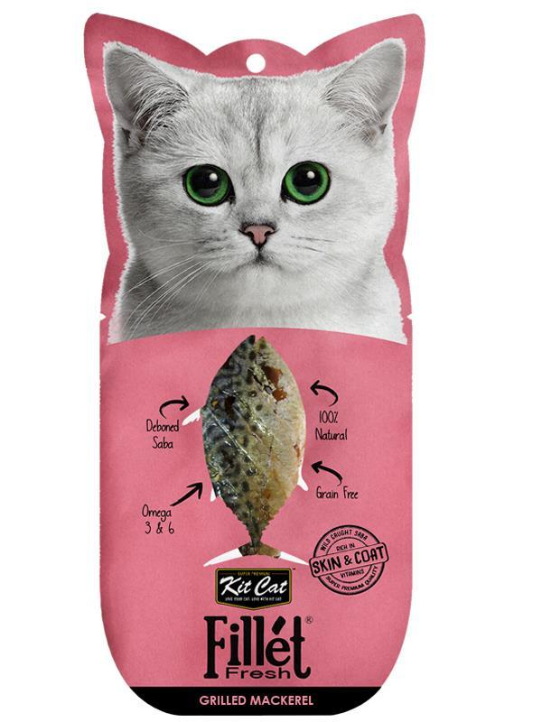 Kit Cat Fillet Fresh Grilled Mackeral Cat Treat 30g