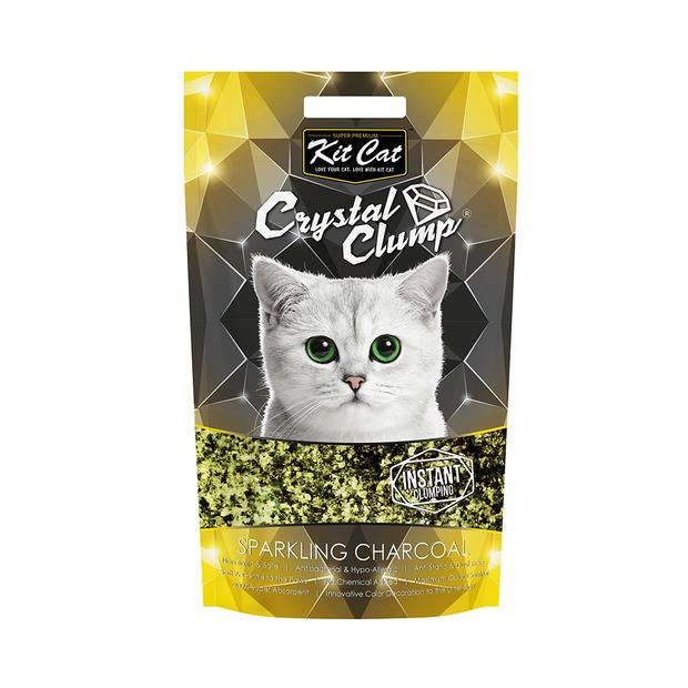 Kit Cat Litter Clumping Crystal Sparkling Charcoal 1.8kg