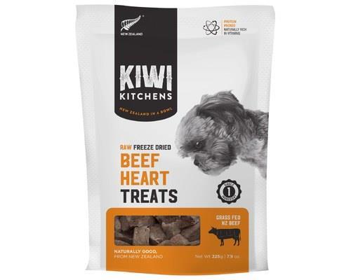 Kiwi Kitchens Beef Heart Freeze Dried Treats 225g