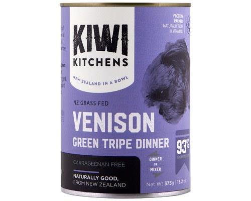 Kiwi Kitchens Dog Can Venison And Green Tripe 375g