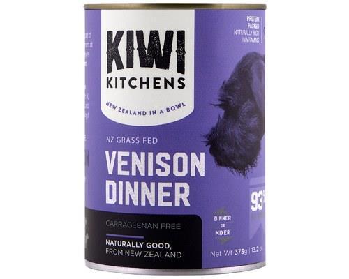 Kiwi Kitchens Dog Venison Wet 375g