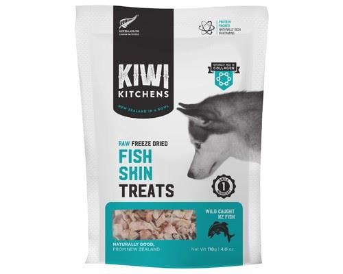 Kiwi Kitchens Fish Skin Freeze Dried Treats 110g