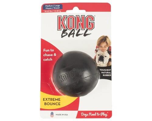 Kong Extreme Black Rubber Ball Medium/large