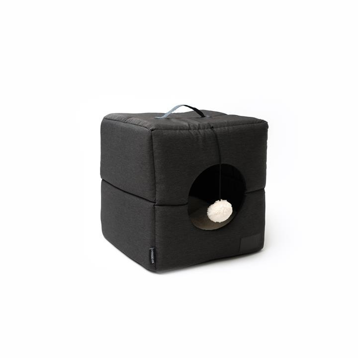 La Doggie Vita Charcoal Cube Cat Bed