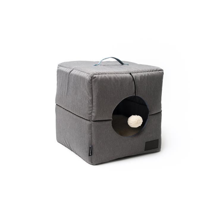 La Doggie Vita Grey Cube Cat Bed