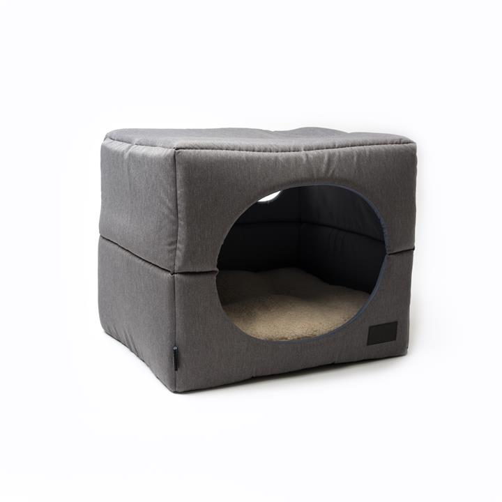 La Doggie Vita Grey Cube Dog Bed Medium