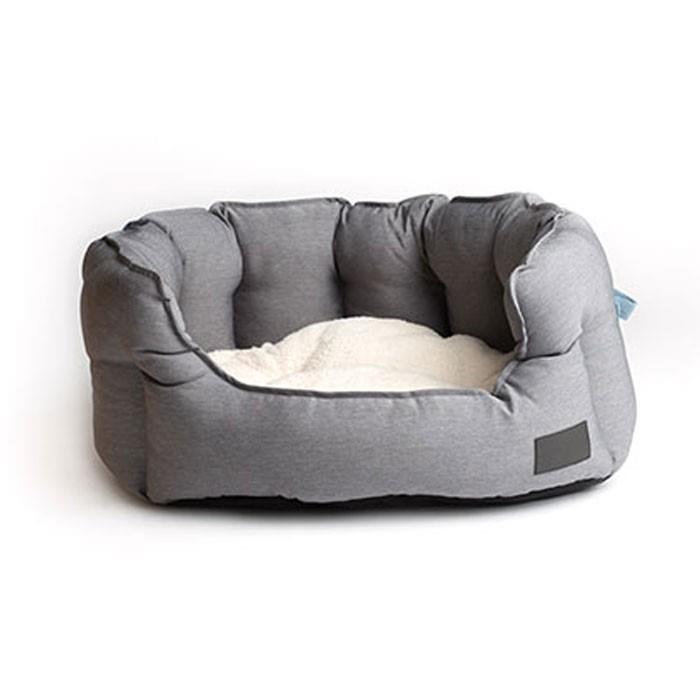 La Doggie Vita High Sided Shell Grey Dog Bed Medium