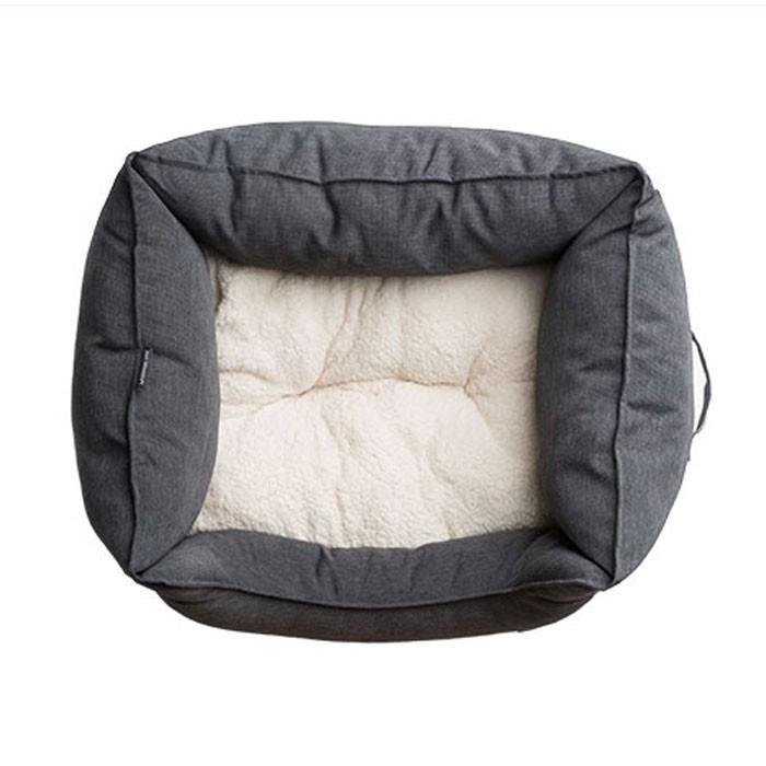 La Doggie Vita High Sided Square Charcoal Dog Bed